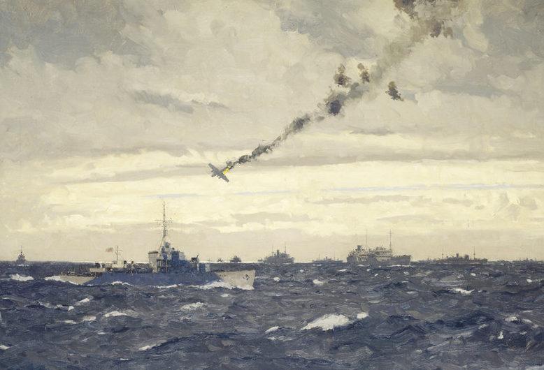 Wilkinson Norman. Подбитый Focke-Wulf.