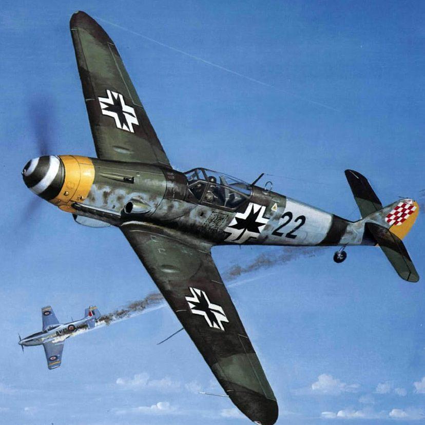Wyllie Iain. Истребитель Bf-109E-4.