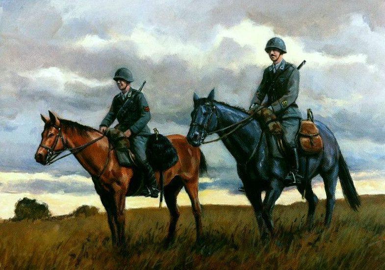 Pentland David. Итальянские кавалеристы у реки Дон.