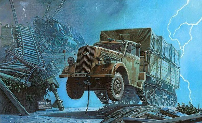 Григоренко Валерий. Полугусеничный грузовик Opel Blitz Kfz. 305 (Maultier).