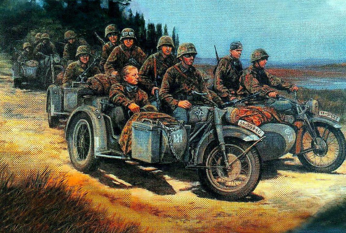 Pentland David. Немецкие мотоциклисты на Балканах.