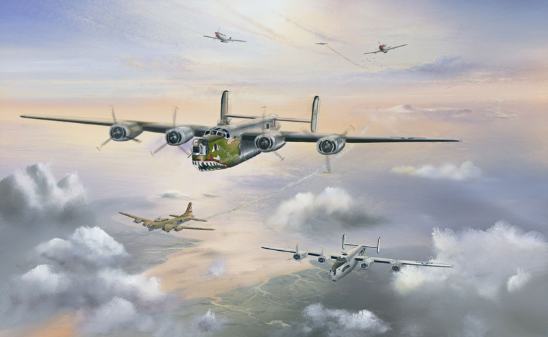 Hill Keith. Бомбардировщик B-24 Liberators.