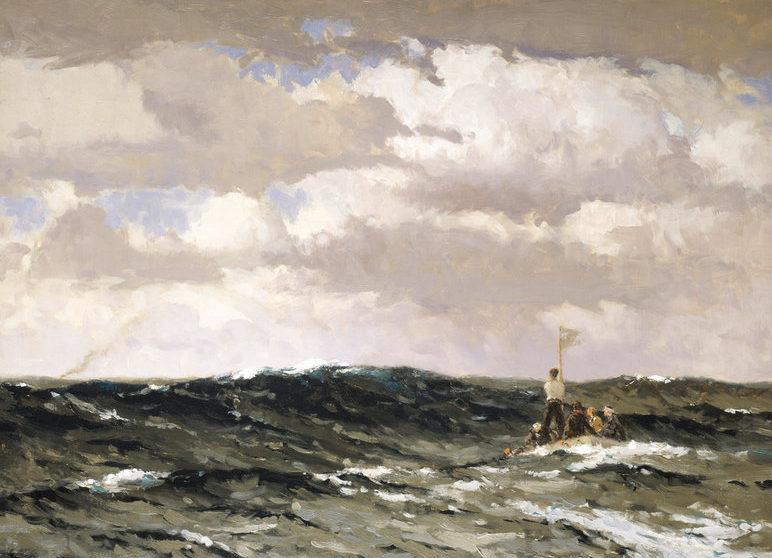 Wilkinson Norman. Плот в море.