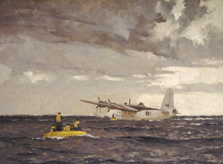 Wilkinson Norman. Спасение летчиков.