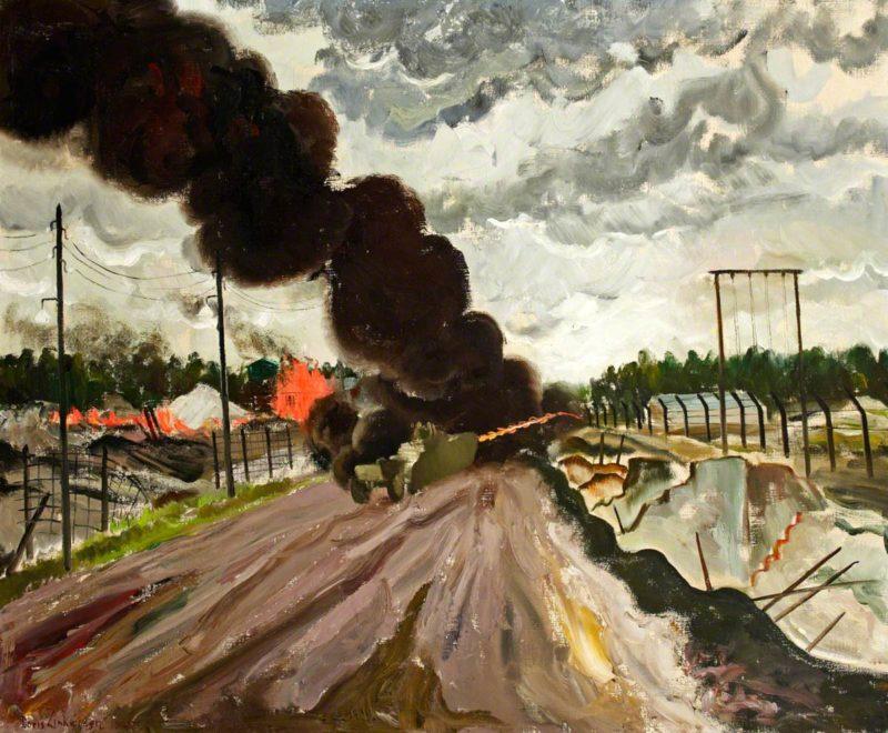 Scott Septimus Edwin. Пожар в концлагере Belsen.