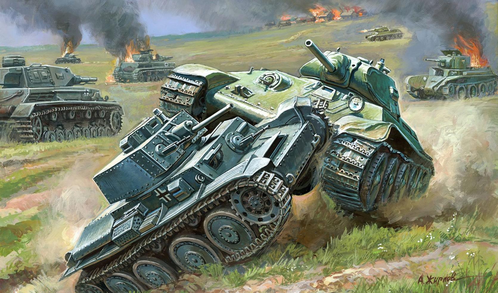 Жирнов Андрей. Танковый бой.
