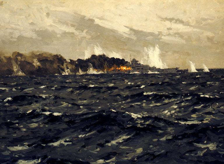 Wilkinson Norman. Гибель линкора «Bismarck».