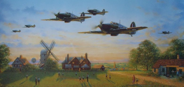 Perring Bill. Истребители Hawker Hurricane.