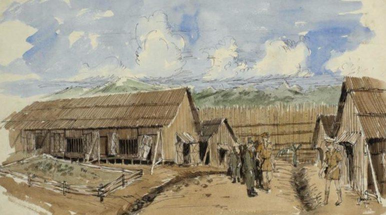 Morris James. Японский лагерь военнопленных.