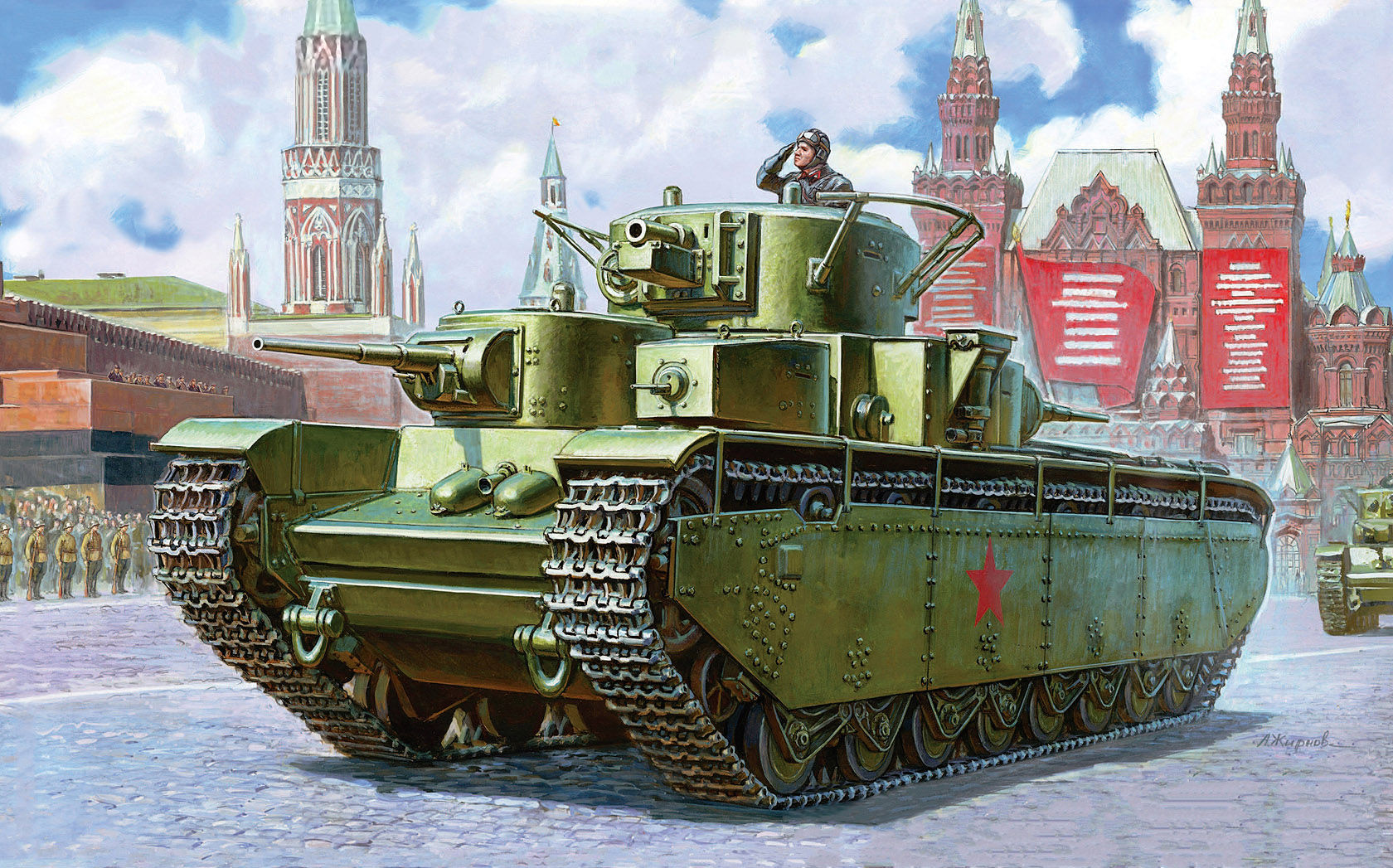 Жирнов Андрей. Тяжелый танк Т-35.