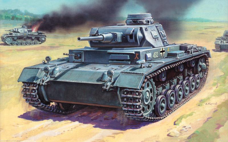 Жирнов Андрей. Танк Pz.Kpfw. III Ausf. F.