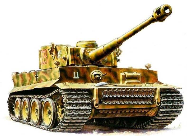 Жирнов Андрей. Танк Tiger I Ausf. E.