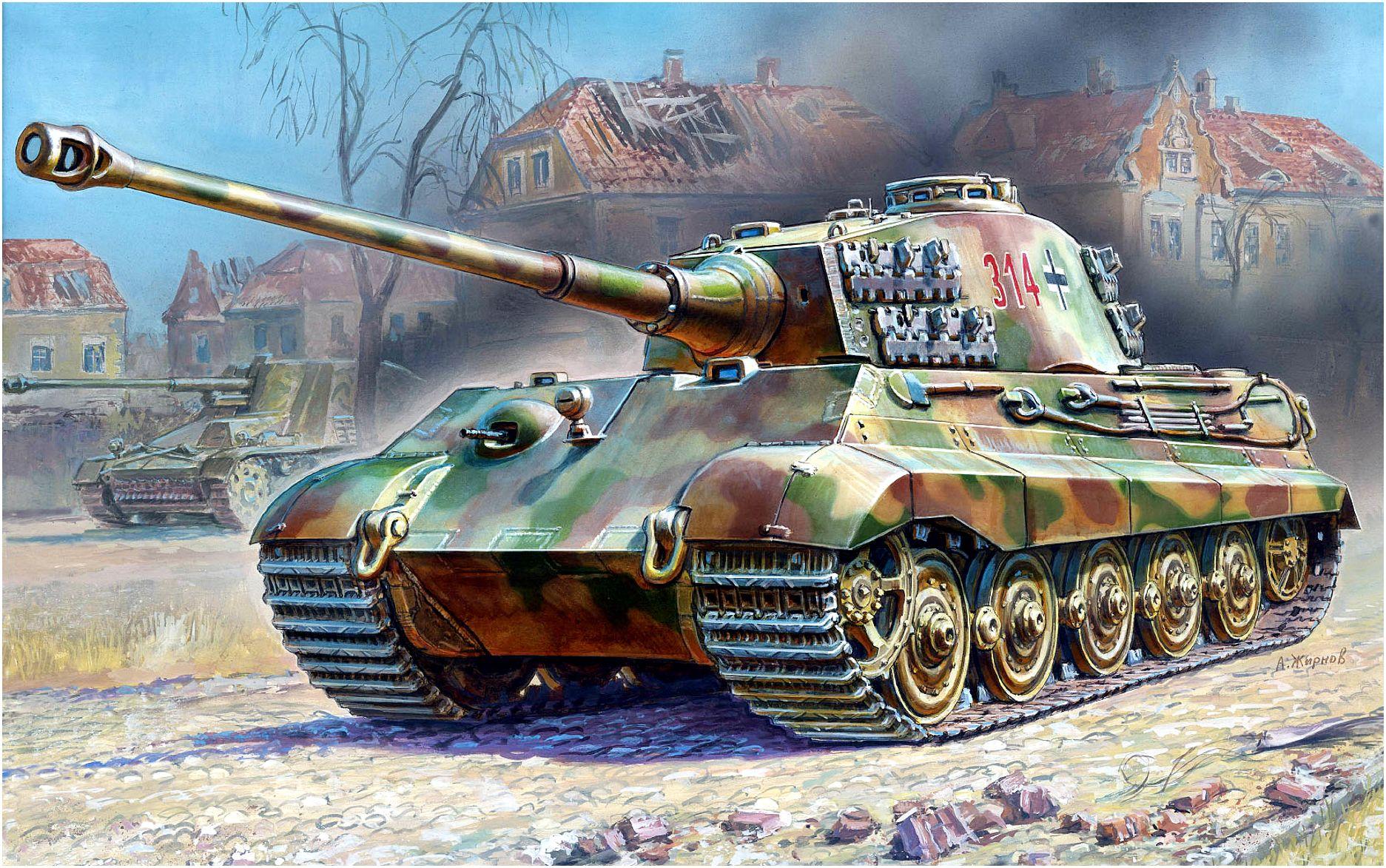 Жирнов Андрей. Танк Pz.Kpfw. VI Ausf. B.