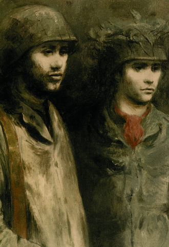 Ahrnest Bernard. Два солдата.