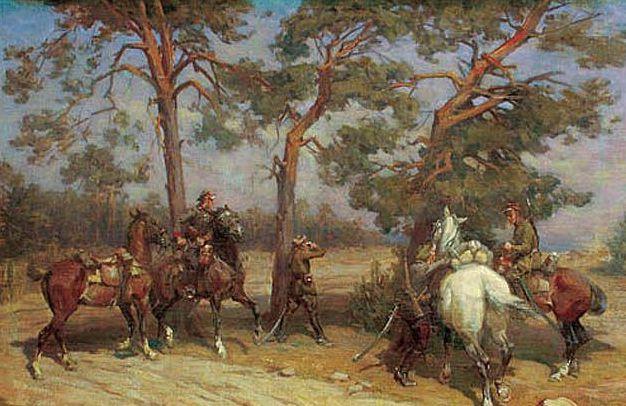 Bagieński Stanisław. Кавалерийская разведка.