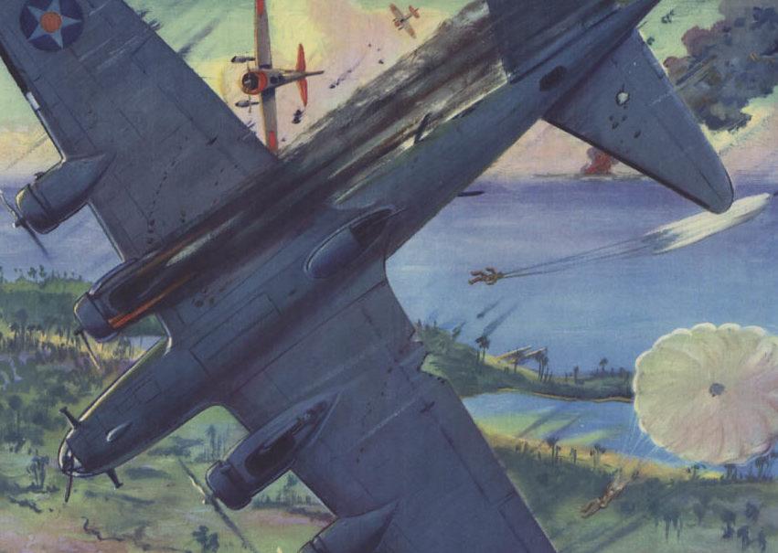 Hubbell Charles. Бомбардировщики В-17С.