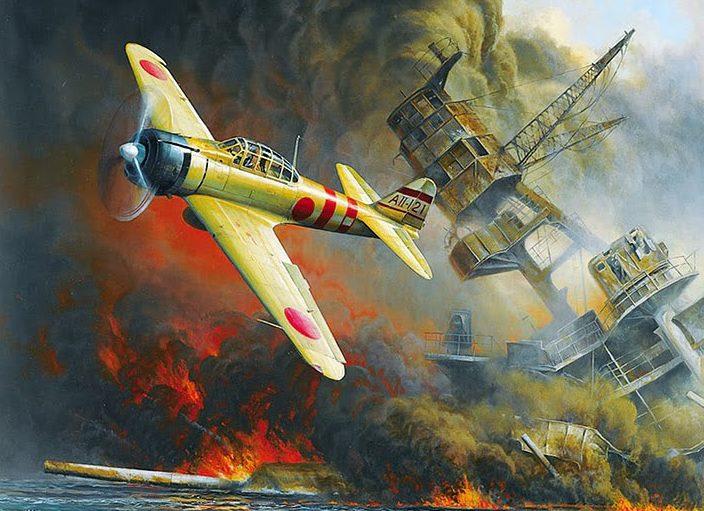 Kloetzke Don. Атака истребителя A-6M2 «Zero» на авианосец «Arizona».