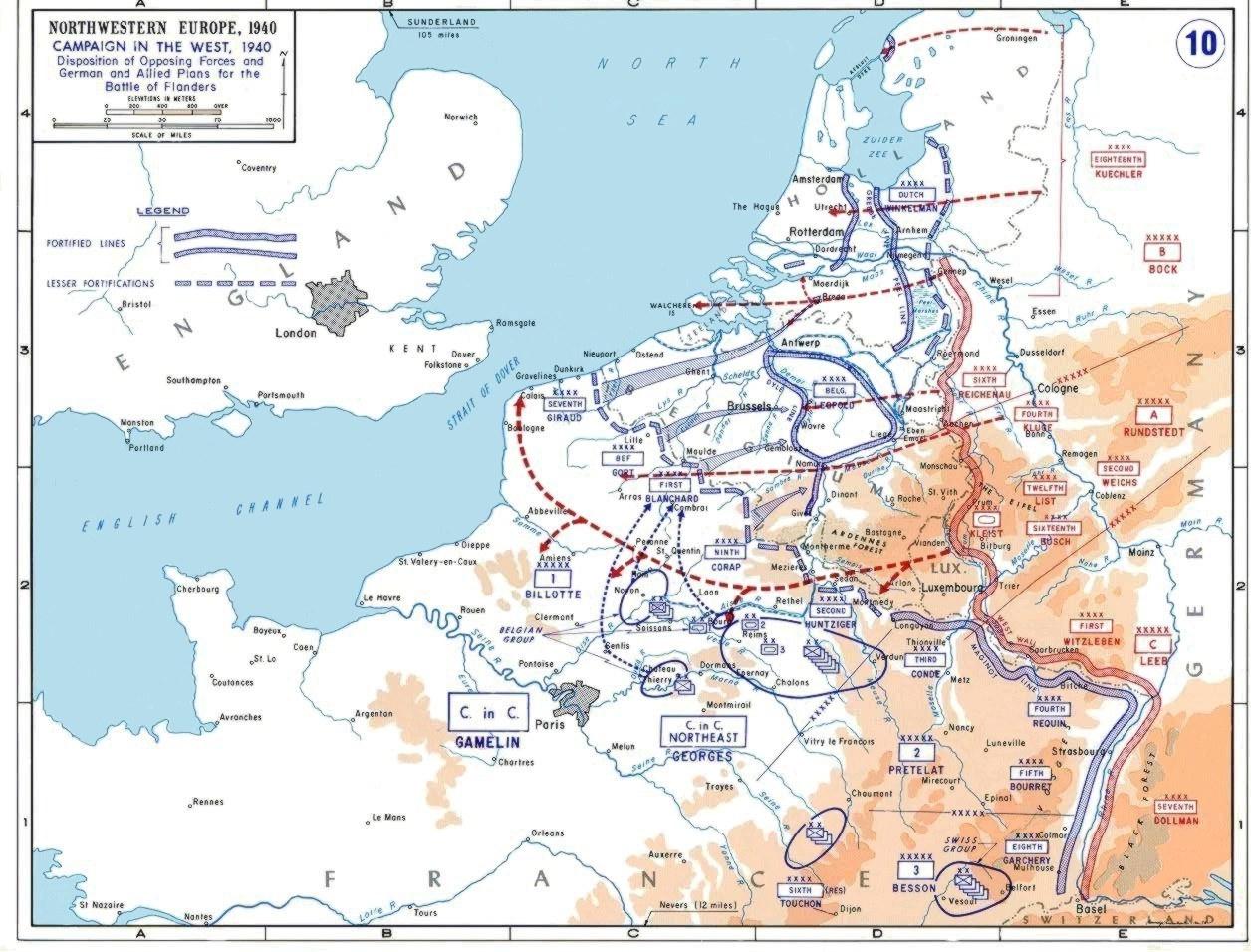 Немецкий план «Гельб» захвата Бельгии, Голландии, Люксембурга и Франции в 1940 году.
