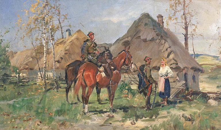 Wasilewski Stanisław. Патруль уланов.