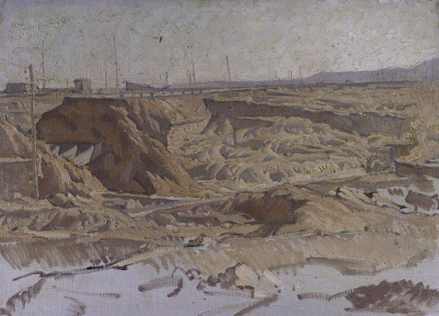 Hele Ivor. Взорванный мост в Ливии.