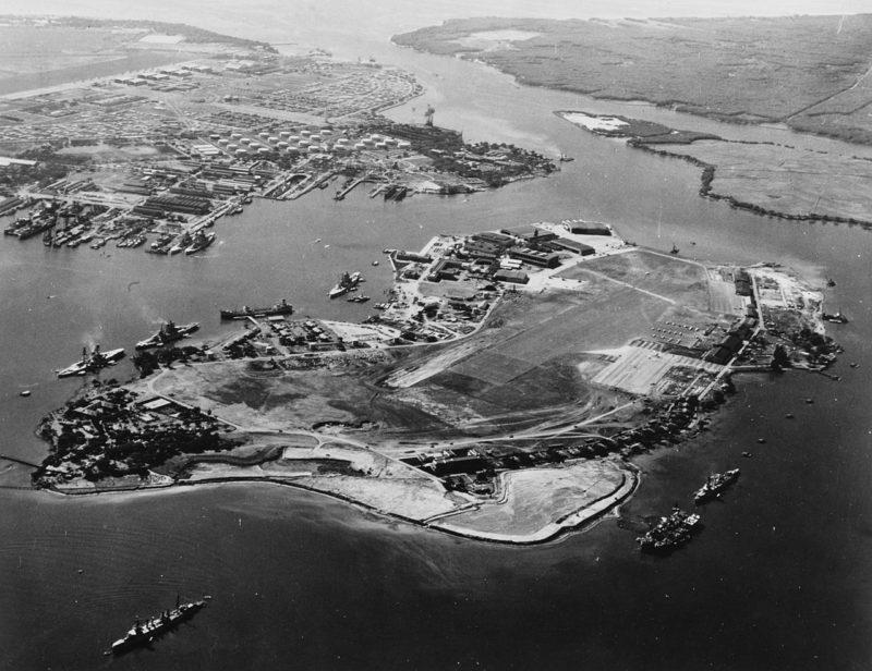 Вид на Перл-Харбор. Июнь 1941 г.