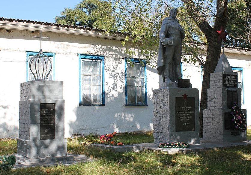 с. Выползки Переяслав-Хмельницкого р-на. Памятник у клуба, установленный в 1976 году на братской могиле воинов, погибших в годы войны.