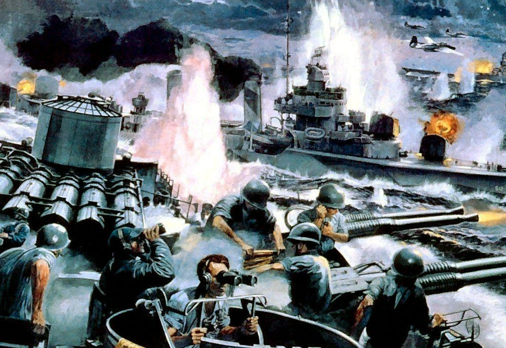 Dietz James. Битва в заливе Leyte Gulf.