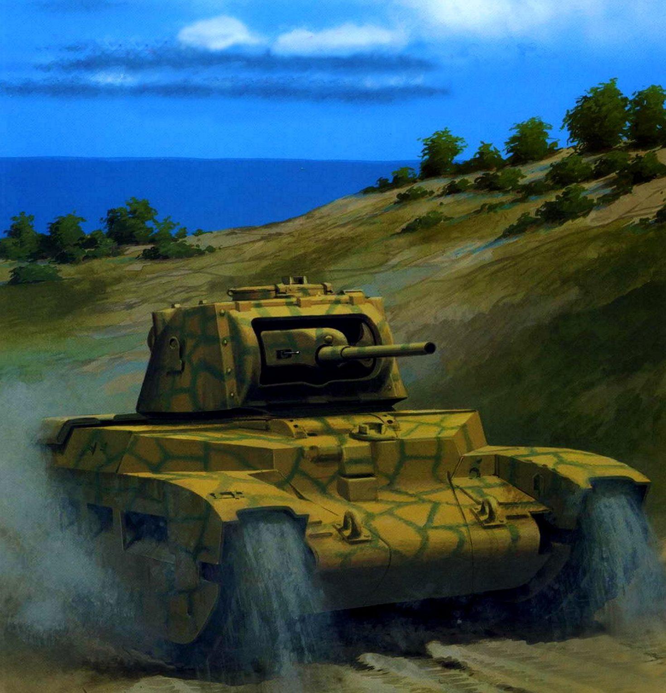 Wróbel Arkadiusz. Танк Matilda A-12.