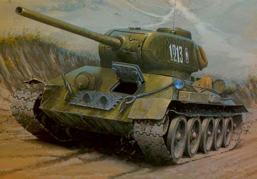 Wróbel Arkadiusz. Танк Т-34-85.