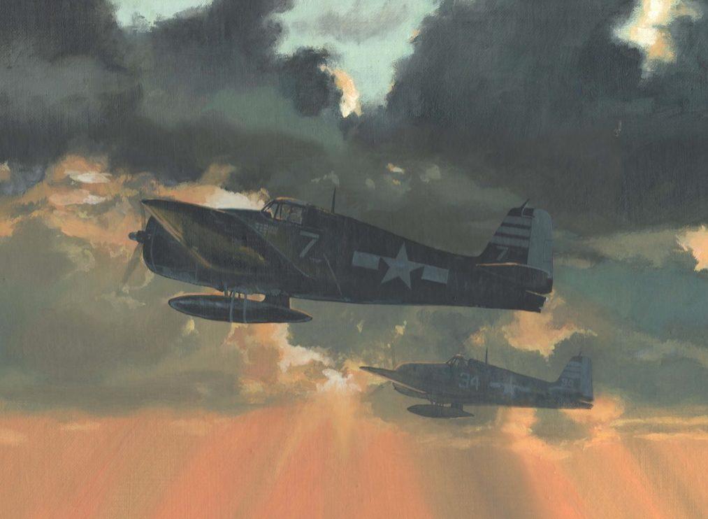 Bateman Brian. Истребители F-6F-5 Hellcats на рассвете.