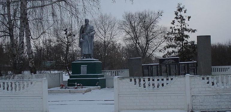 с. Большой Крупиль Згуровского р-на. Памятник землякам, погибшим в годы войны.