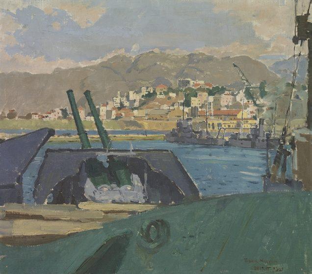 Norton Frank. Крейсер «Hobart» в Бейруте.