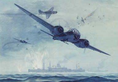 Hubbell Charles. Бомбардировщик Ju-188.