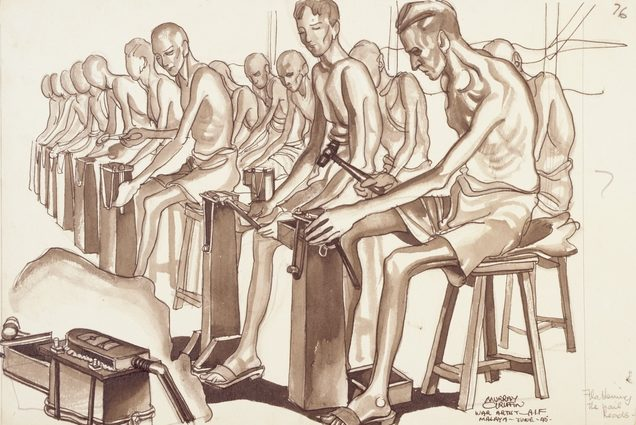 Griffin Murray. Изготовление гвоздей в лагере.
