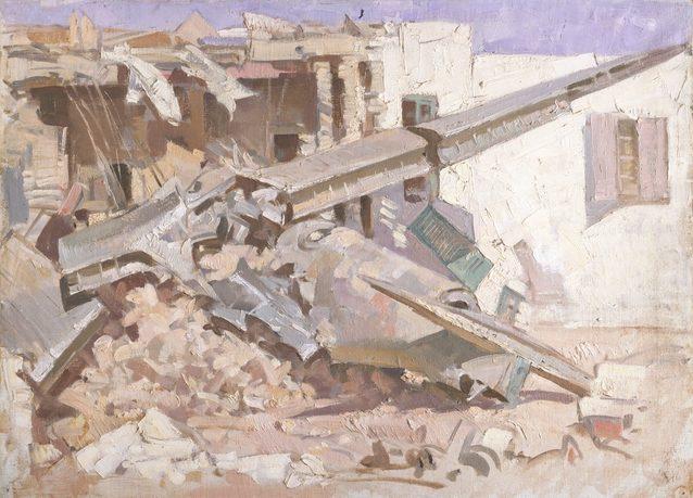 Hele Ivor. Обломки самолета. Tobruk.