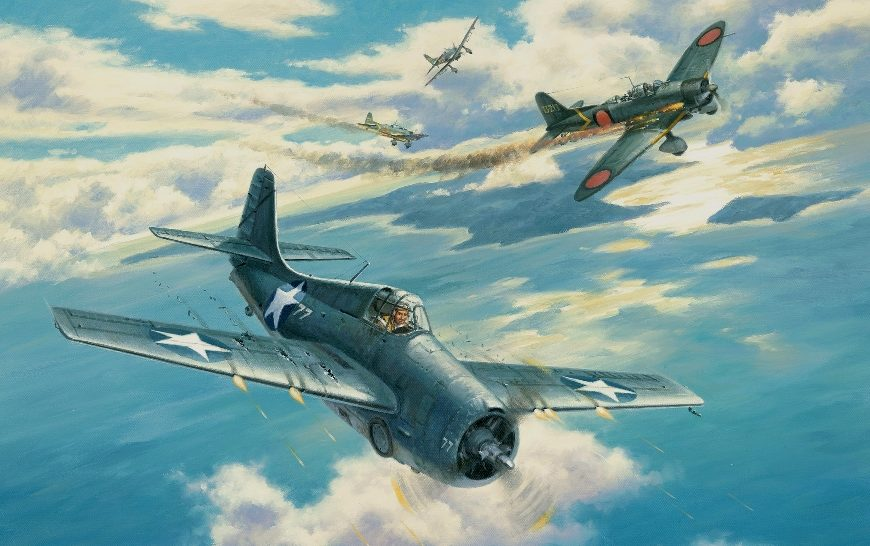 Grinell Roy. Истребитель Grumman F-4F Wildcat.