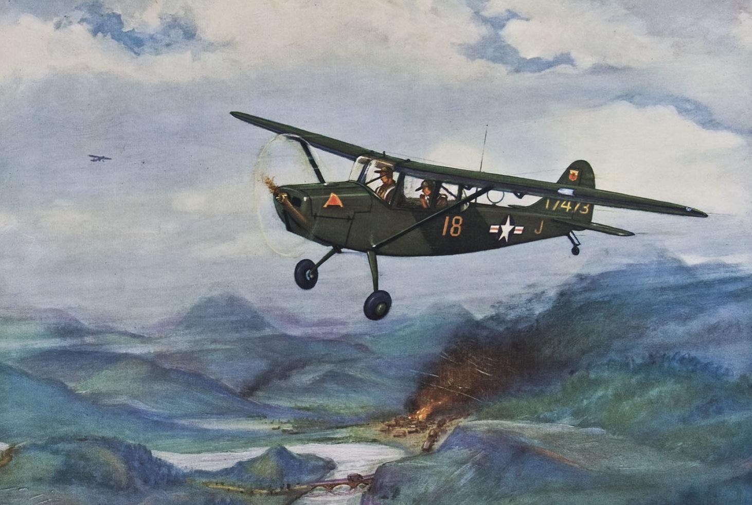 Hubbell Charles. Самолет связи Cessna L-19.