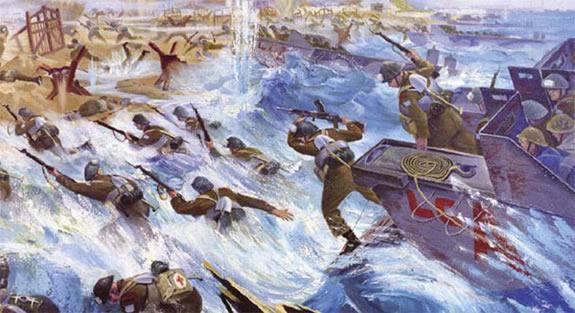 Fisher Orville Norman. Высадка десанта в Нормандии.