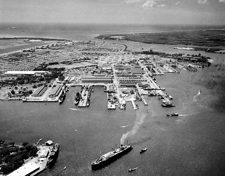 Вид на Перл-Харбор. 13 октября 1941 г.