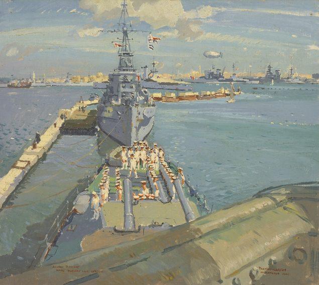 Norton Frank. Крейсера «Hobart» и «Neptune» в Александрии.