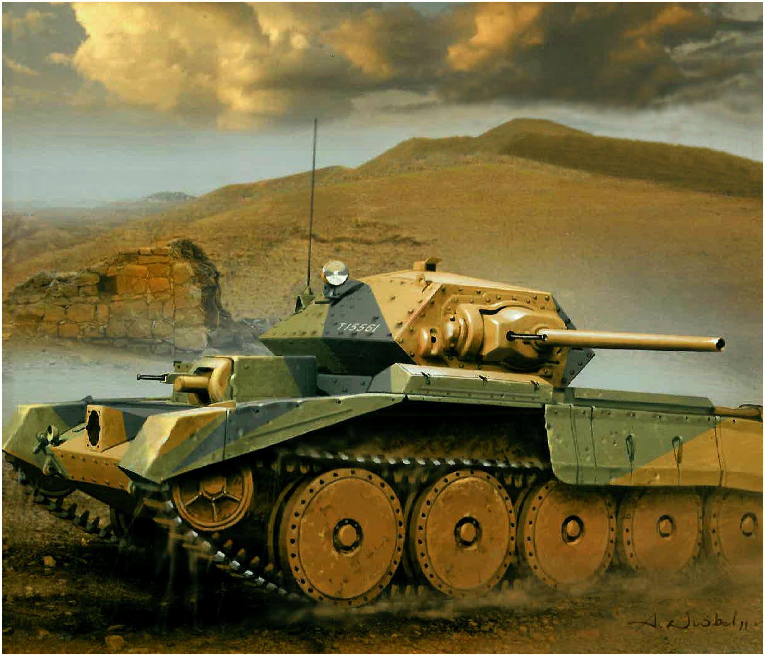Wróbel Arkadiusz. Танк Crusader Mk.II.