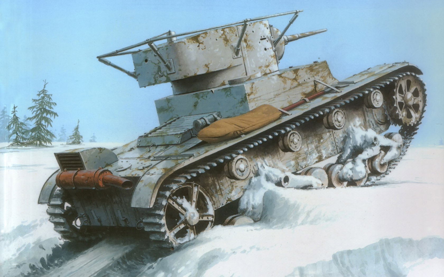 Wróbel Arkadiusz. Танк Т-26.