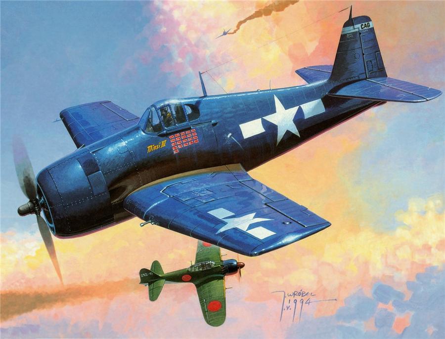Wrobel Jaroslaw. Истребитель F6F-5 Hellcat.