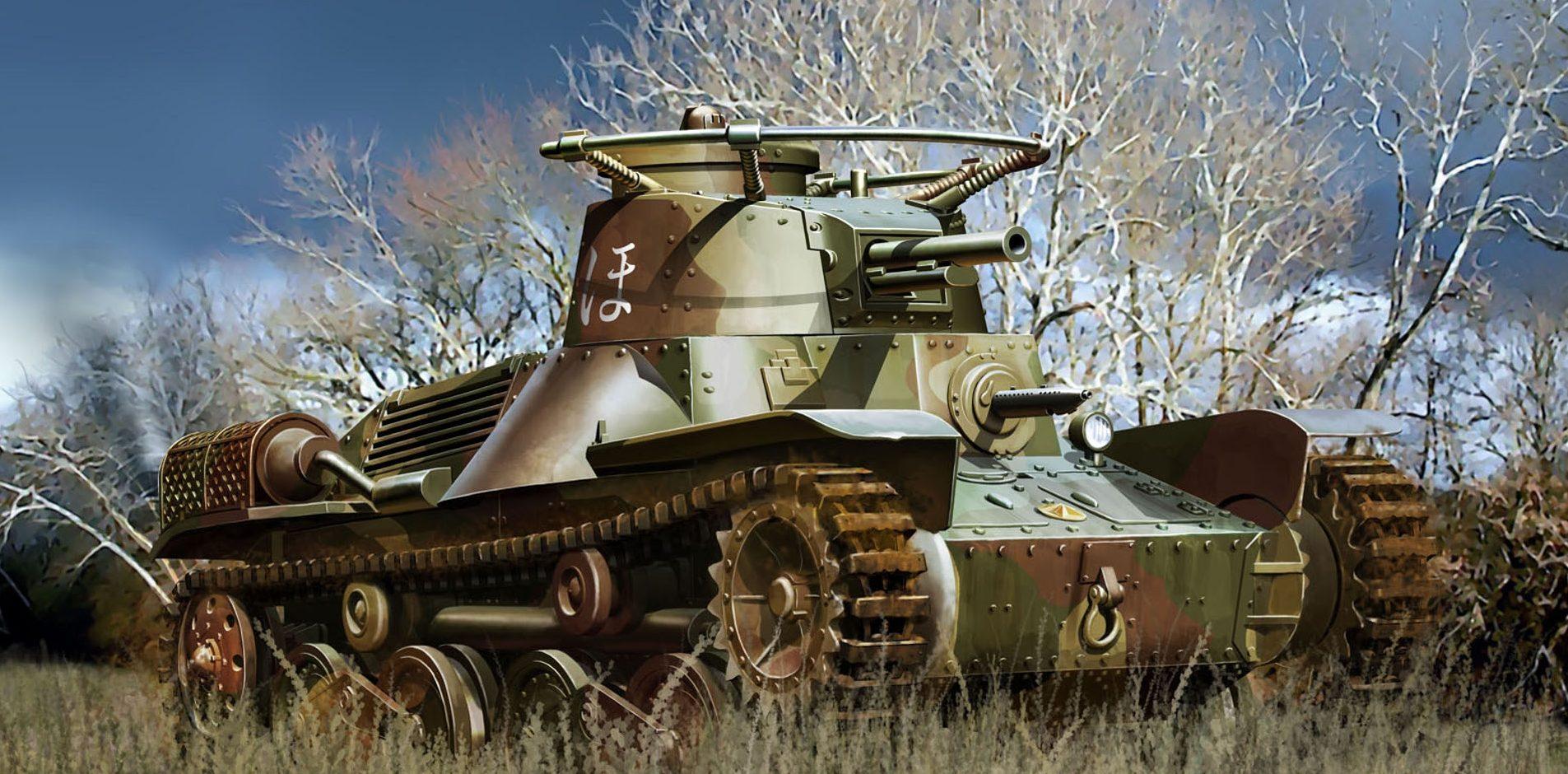 Auletta Vincenzo. Легкий танк Type 4 Ke-Nu.