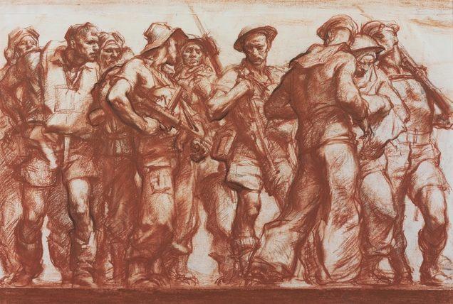 Hele Ivor. Группа военнослужащих.