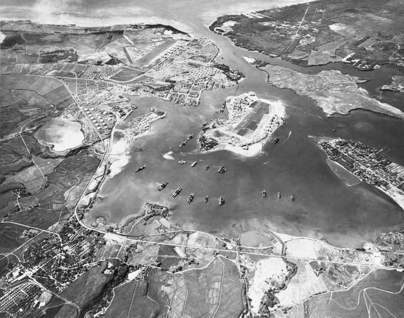 Вид на Перл-Харбор. 30 октября 1941 г.