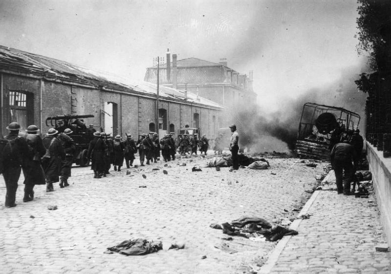 Выход британских войск из Дюнкерка.