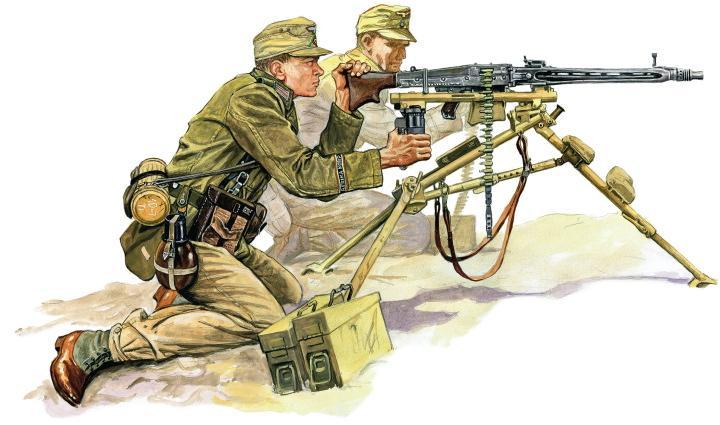Szyzsko Marek. Немецкие пулеметчики.
