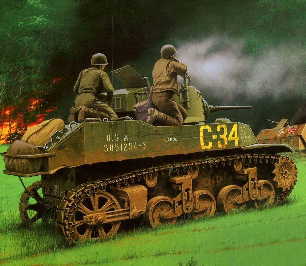 Wróbel Arkadiusz. Танк M-5A1 Suart.