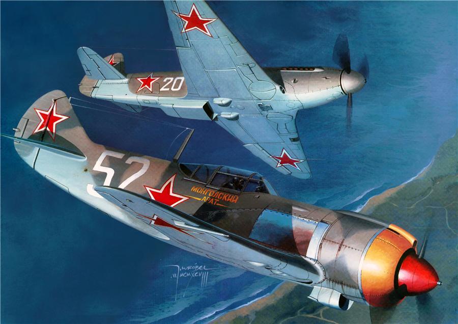 Wrobel Jaroslaw. Истребители Ла-5ФН.